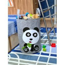Корзина для игрушек «Малыш Панда» из фетра