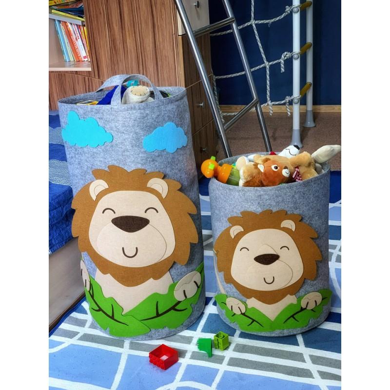 Корзина для игрушек «Лев» из фетра