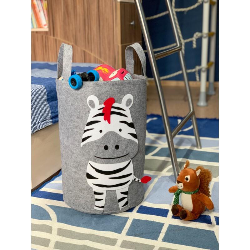 Корзина для игрушек «Зебрёнок» из фетра