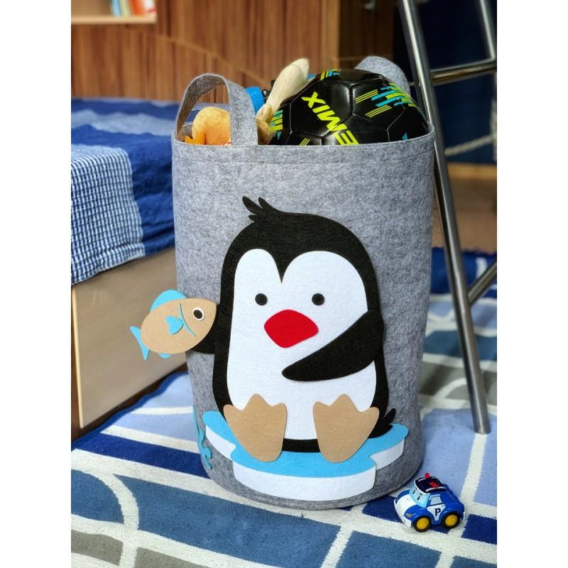 Корзина для игрушек «Пингвинёнок» из фетра