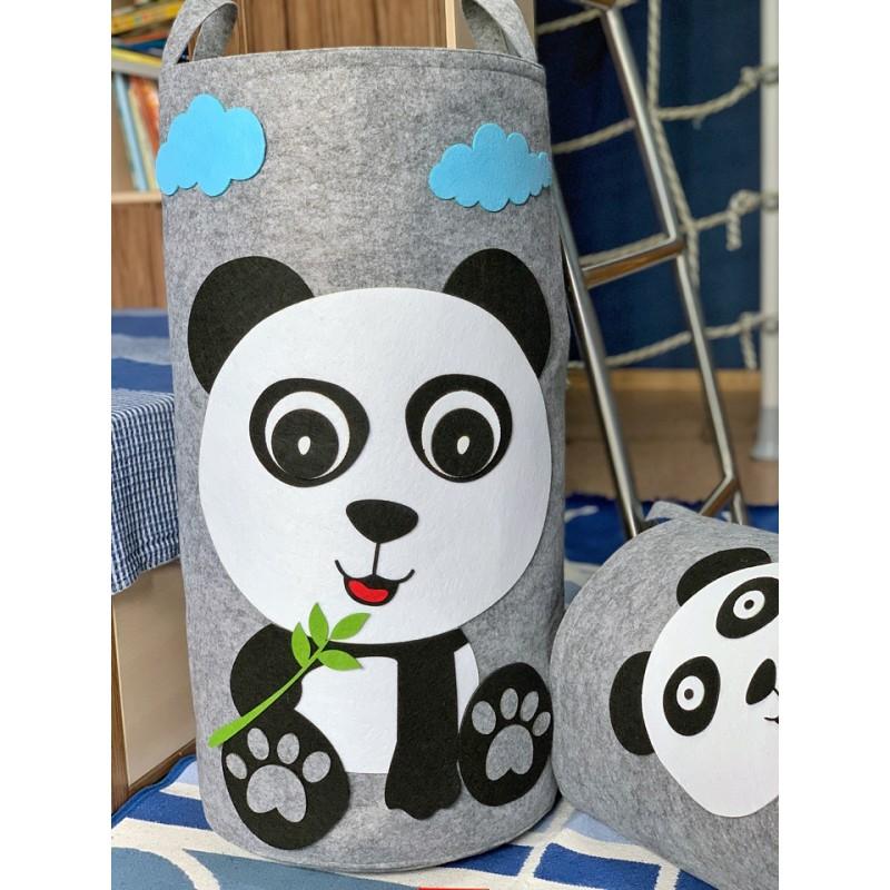 Корзина для игрушек «Панда» из фетра