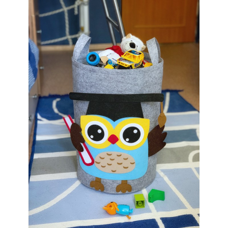 Корзина для игрушек «Совенок» из фетра