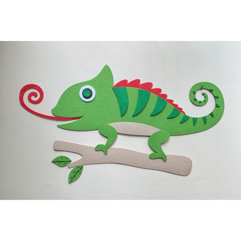 Подарочный набор «Хамелеон» (Питомец из фетра)