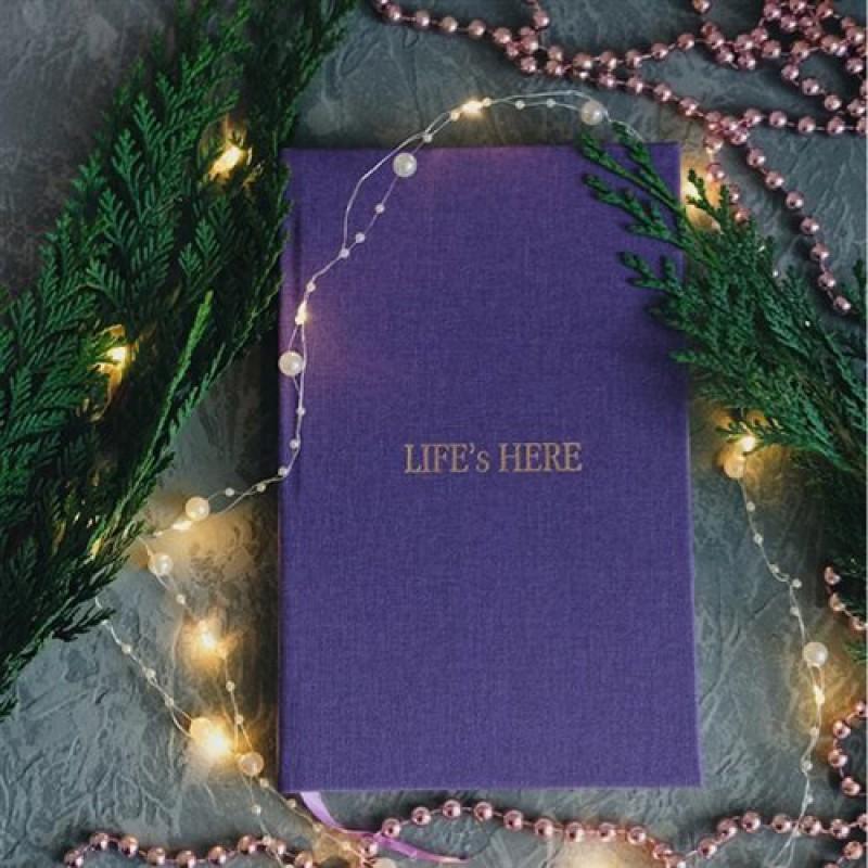 "Блокнот ""Life is here"" тираж 2021-2023гг. (экокожа)"
