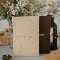 """Блокнот """"Life is here"""" тираж 2021-2023гг. (холст)"""