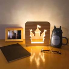 Деревянный светильник (много видов)