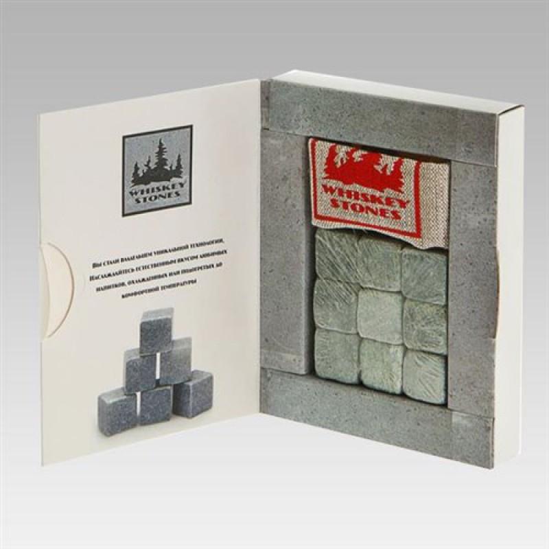 Камни для виски в коробке, 9 штук