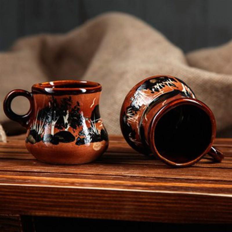 Кофейный набор, с росписью: турка , чашки