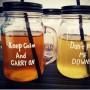 """Кружка-банка mason jar """"Color top"""" (бесцветная)"""