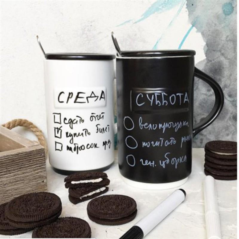 Кружка «Plan your day» с маркером