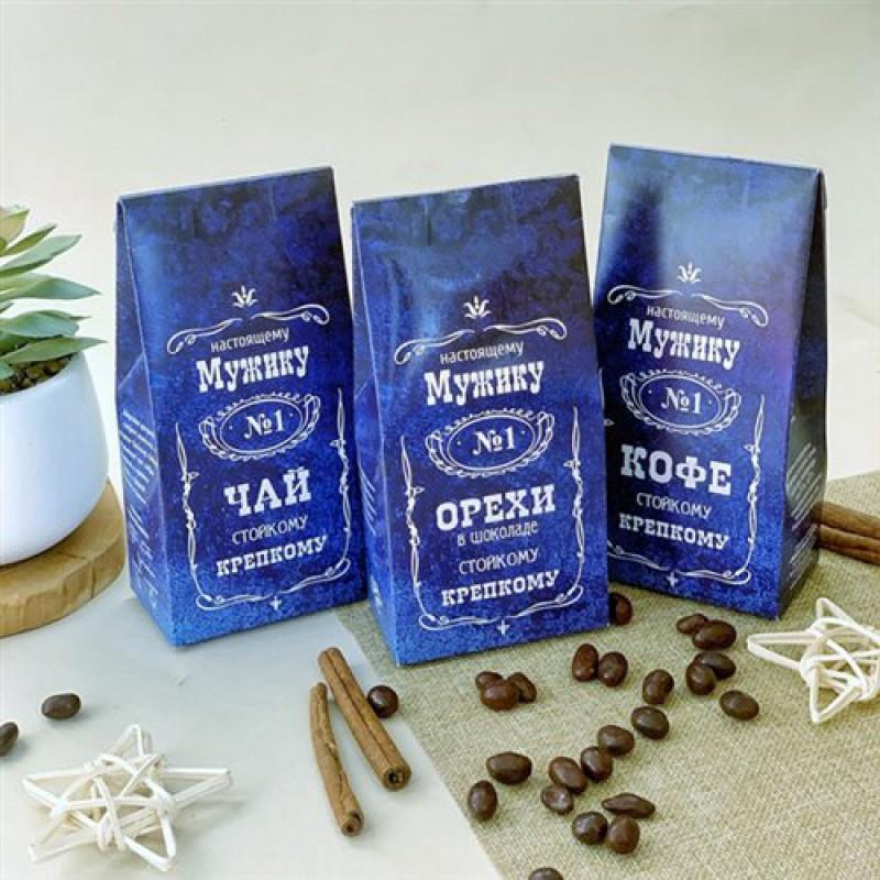 """Набор подарочный """"Мужику № 1"""" орехи, чай, кофе"""