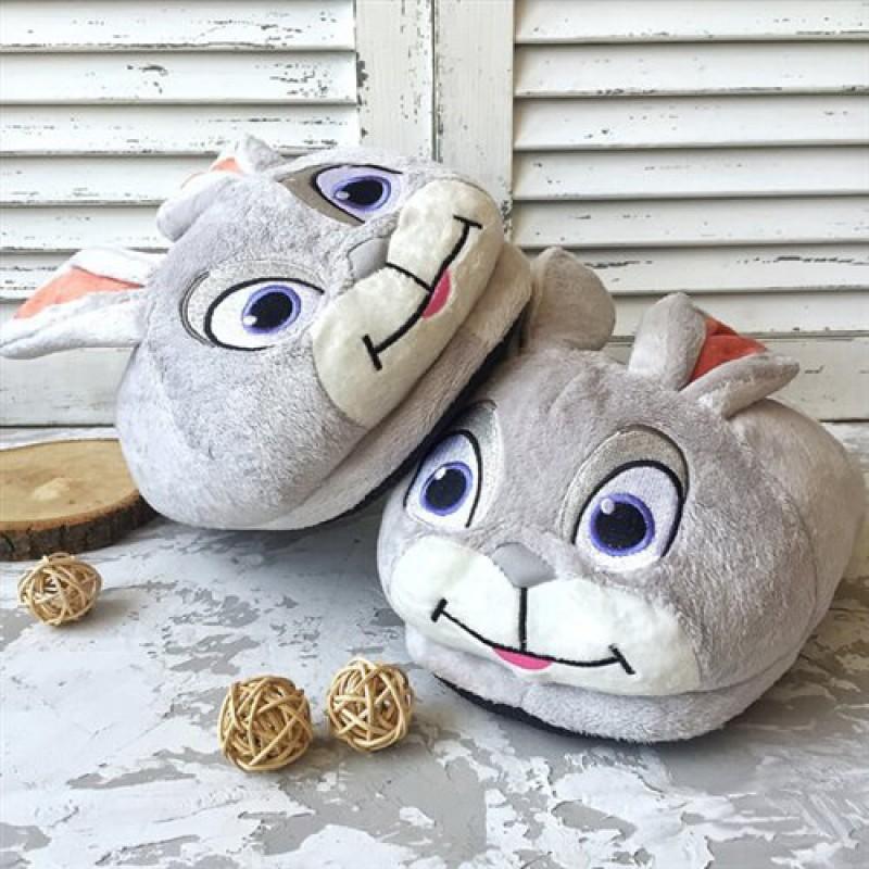 """Плюшевые тапки """"Кролик"""""""