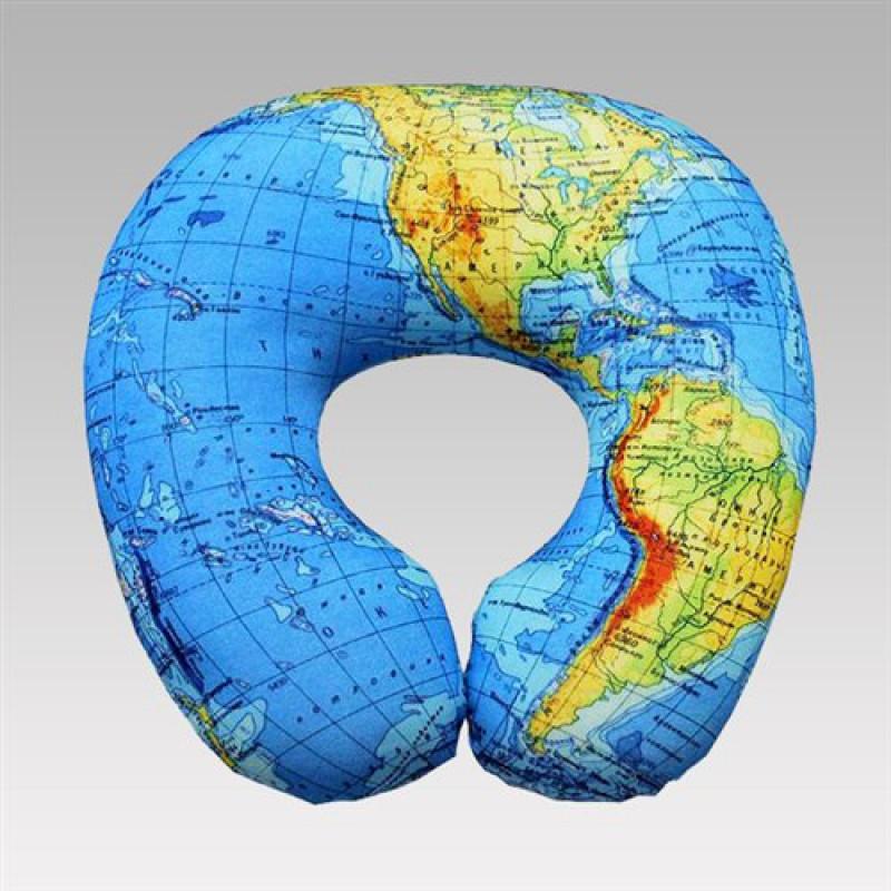 """Подушка под голову """"Карта мира"""""""
