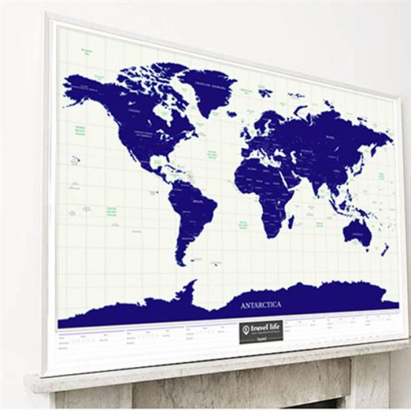 Скретч карта мира светящаяся в темноте