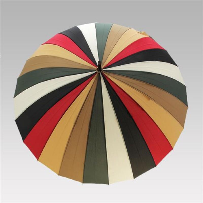 """Зонт """"Цветной"""" (красно-коричневый) (Три слона)"""