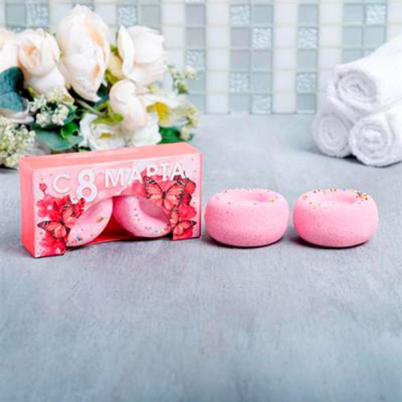 """Бурлящие пончики для ванны """"Бабочки"""" 2 шт"""