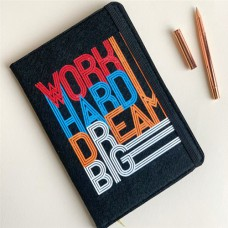 "Фетровый блокнот ""Work, hard, dream, big"""