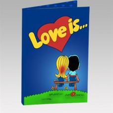 "Шокооткрытка "" Love is"""
