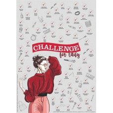 Скретч-постер «Challenge for lady»