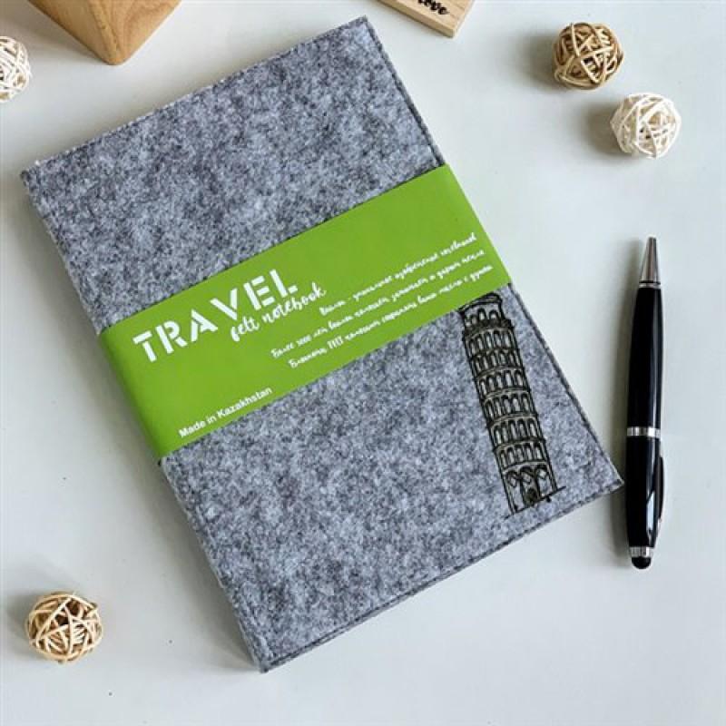 """Войлочный блокнот """"Пизанская башня"""" (Travel)"""